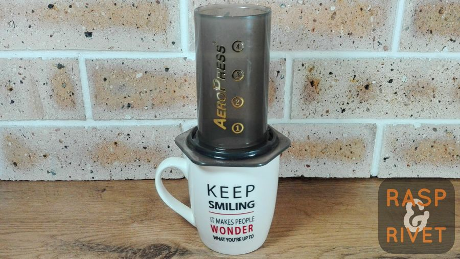 Place the AeroPress on top your favourite cup