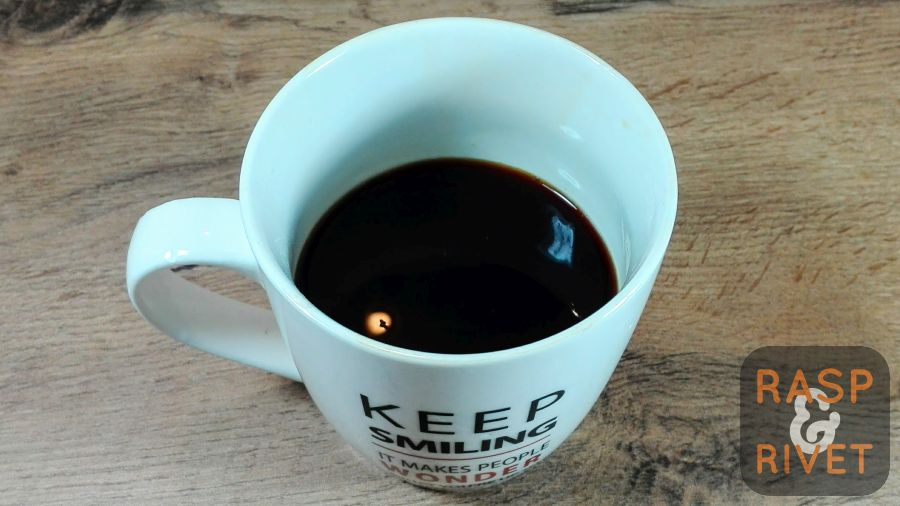 What you see here is one delicious cup of AeroPress filter coffee
