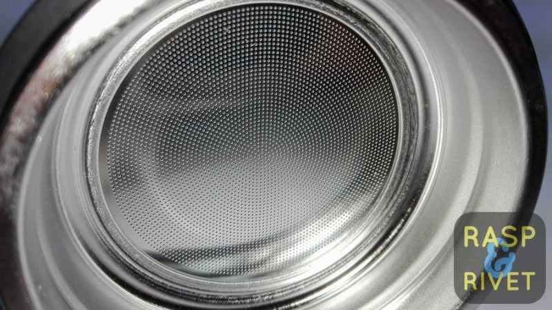 The Bobble Presse's metal filter up close