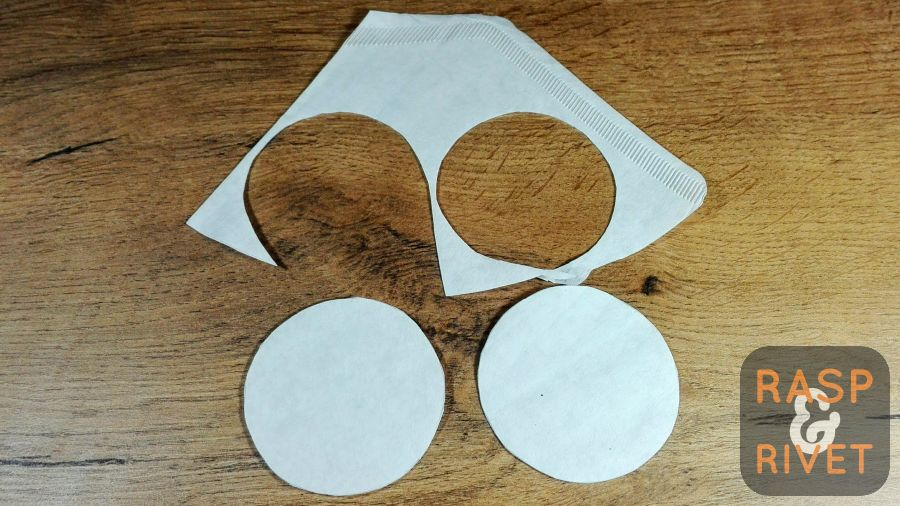 Cut out four AeroPress filters from the standard paper filter