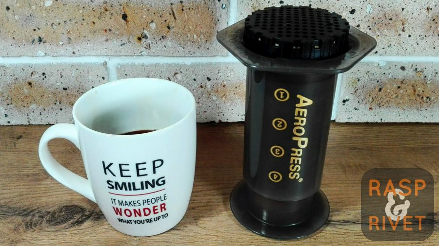 Remove the AeroPress from off the cup of coffee