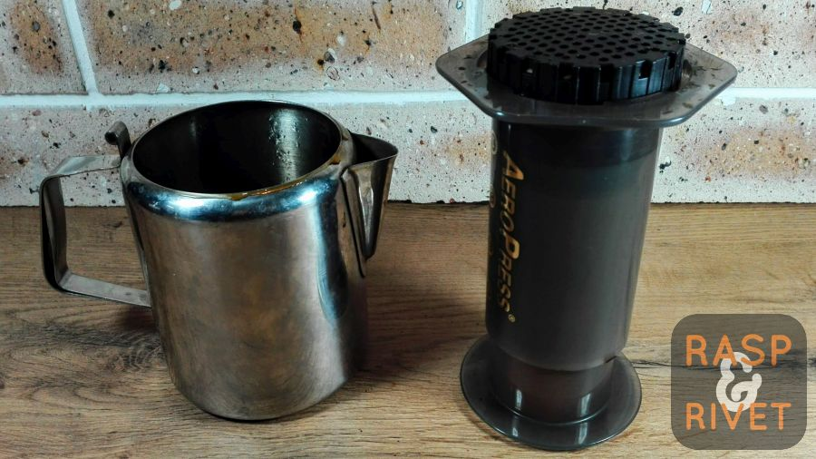 Remove the AeroPress from the jug