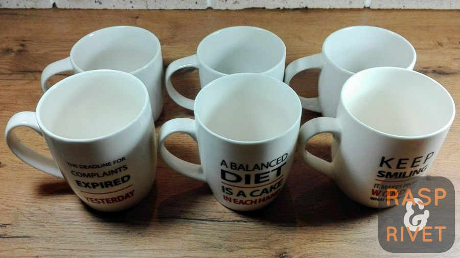 Six cups ready to be coffeed