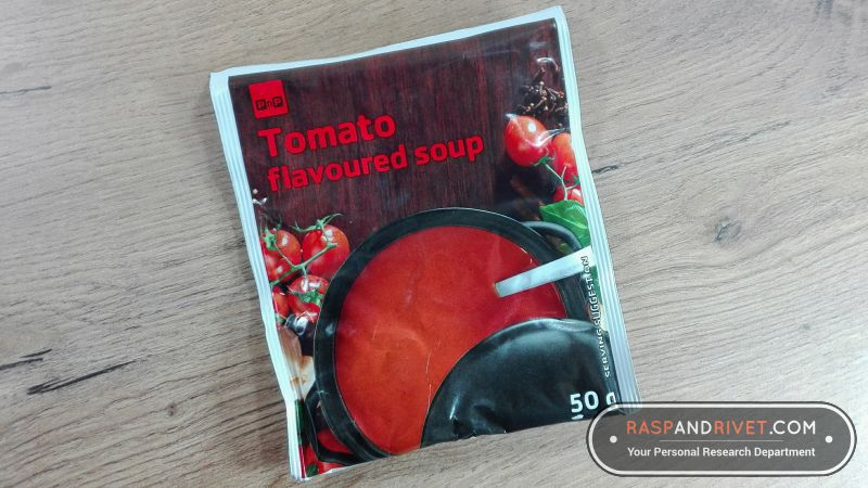 The tomato soup I used for testing the AUTOSEAL West Loop