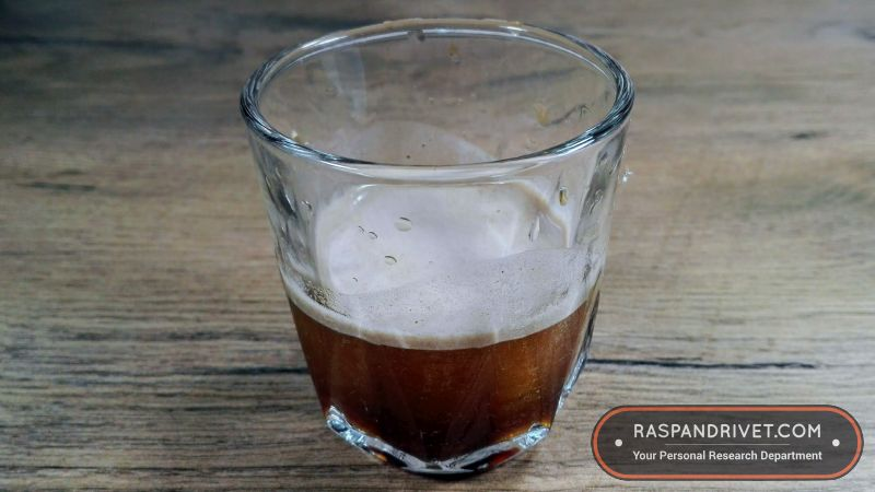 A cold brew espresso made with the Staresso. It does not taste nice