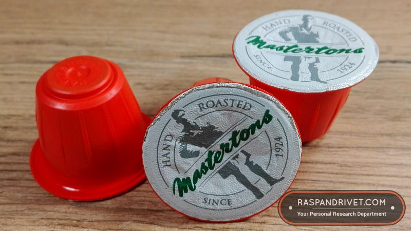 Mastertons Nespresso style coffee capsules up close