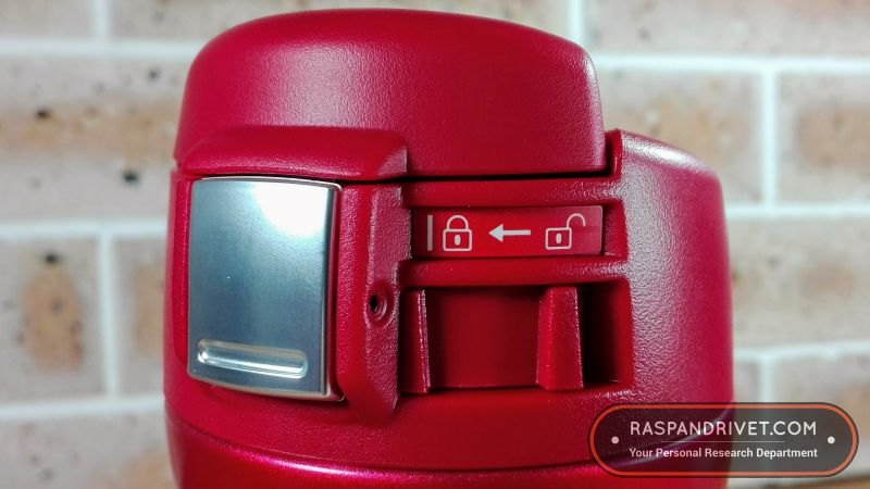 The Zojirushi's lid in the locked position