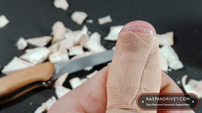 Add protection to your thumb before you whittle with a sharp blade