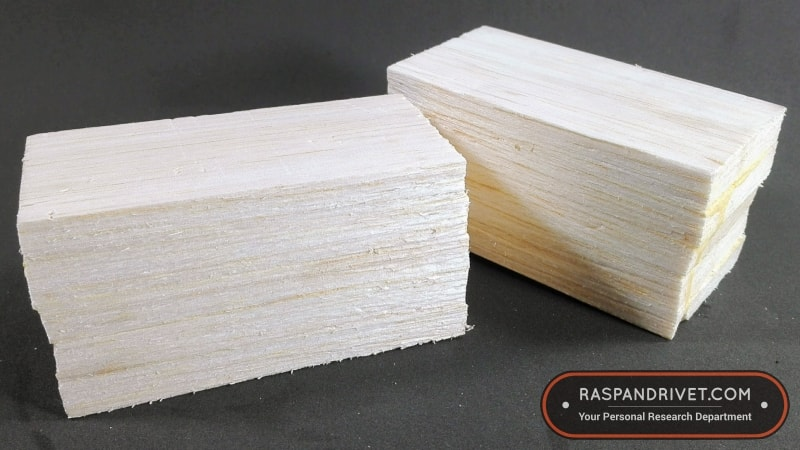 Stacked and glued balsa sheets for making fishing lures