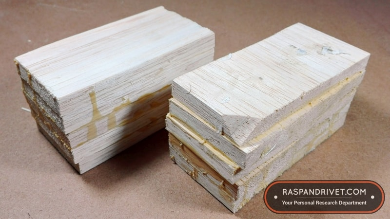 Two blocks of 100 mm x 50 mm x 50 mm balsa wood