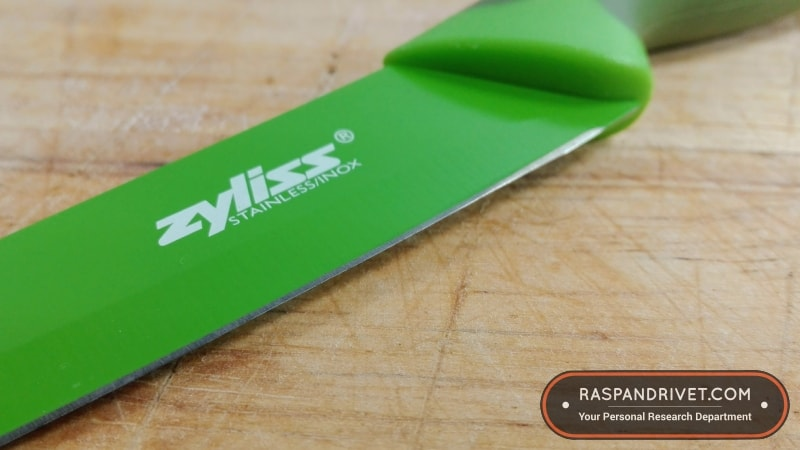 The Zyliss utility knife's blade up close