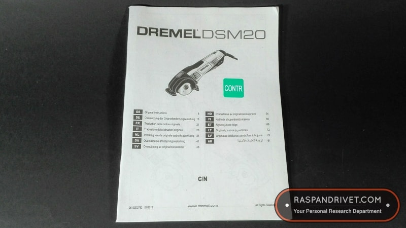 Dremel Saw Max instruction guide