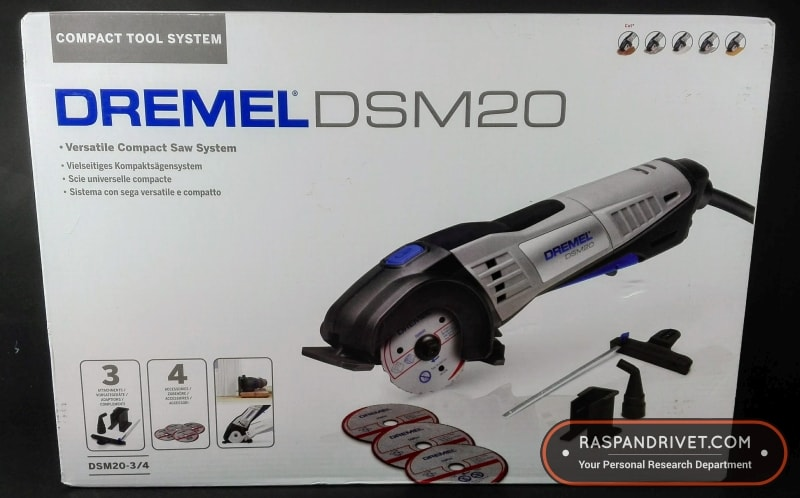 The Dremel DSM20 Saw Max box