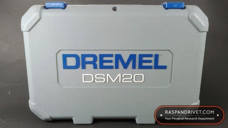 The Dremel DSM20 Saw Max carry case, closed